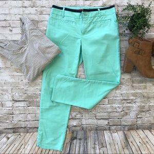 CARTONNIER Anthropologie Green Ankle Pants SZ 4